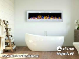 Aflamo Majestic 164cm wit - Elektrische wandhaard