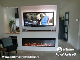 Aflamo RoyalParis 165cm breed Elektrische inbouw haard