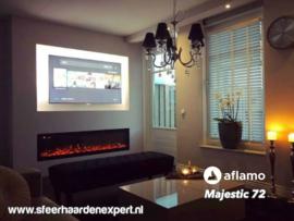 Aflamo Majestic 183cm breed - Elektrische inbouw sfeerhaard