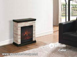 Aflamo Cabo steen - Schouw ombouw met elektrische sfeerhaard LED50