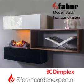 Faber Dimplex Stack wandmeubel met Cassette 600 elektrische waterdamp haard