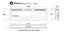 Aflamo Majestic 166cm - Witte Elektrische inbouw sfeerhaard