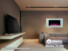 Aflamo Malibu Wit - Elektrische muur wandhaard