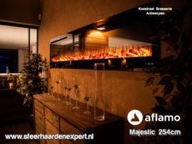 Aflamo Majestic100 254cm breed - Elektrische inbouw sfeerhaard