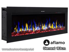 Aflamo Diamond 183cm - Inbouw haard elektrisch