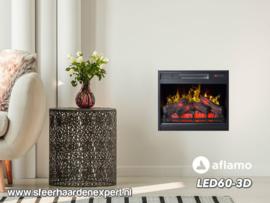 Aflamo LED60-3D - Elektrische inbouwhaard 60cm breed