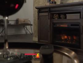 Classicflame CF26 met 3D vlam effect, houtset en verwarming