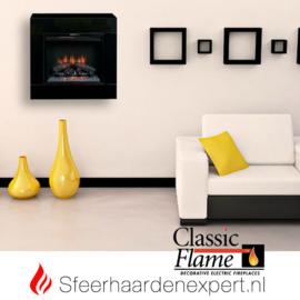 Classicflame- Elektrische wandhaard hanghaard Simo Zwart