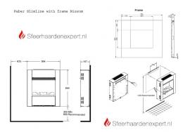 Wandhaard - Faber Nissum wit hoogglans