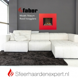 Wandhaard - Faber Nissum rood hoogglans