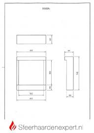 Dimplex Rana elektrische vierkante inbouw haard