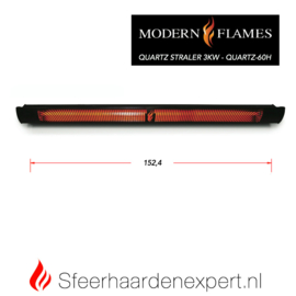 Modern Flames - Quartz Straler  3Kw QUARTZ-60H  ( 152,4  cm )