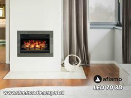 Aflamo LED70-3D - Elektrische haard met 3D vlam