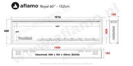Aflamo RoyalParis 152cm breed Elektrische inbouw haard