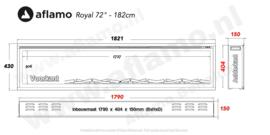 Aflamo RoyalParis 183cm breed Elektrische inbouw haard