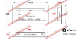Aflamo Pride Mansfield 105cm- Elektrische inbouwhaard
