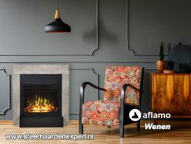 Aflamo Wenen - Beton-look schouw ombouw met elektrische LED haard