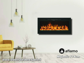 Aflamo Majestic 114cm - Wall Fire Elektrisch