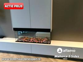 Aflamo Mallorca 152cm - 3 zijdige inbouwhaard