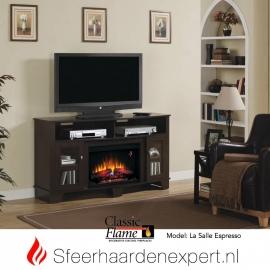 TV meubel Classicflame La Salle met sfeerhaard, kleur Espresso