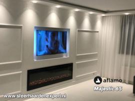 Aflamo Majestic 166cm breed - Elektrische inbouw sfeerhaard