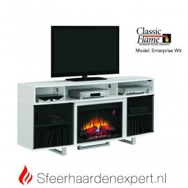 TV meubel Classicflame Enterprise met sfeerhaard, kleur Wit