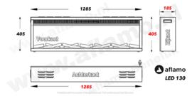 Aflamo LED130 - Elektrische LED inbouw wandhaard