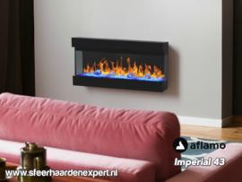 Aflamo Imperial 43 | 110cm - Elektrische haard driezijdig