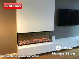 Aflamo Mallorca 125cm - 3 zijdige inbouwhaard