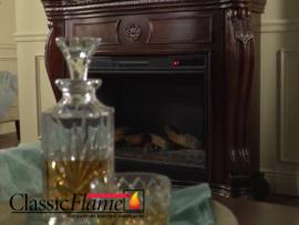 Classicflame schouw Astoria Kersen met elektrische sfeerhaard CF33