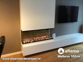Aflamo Mallorca 102cm - 3 zijdige inbouwhaard