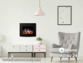 Aflamo Malibu 60cm zwart - Elektrische muur wandhaard