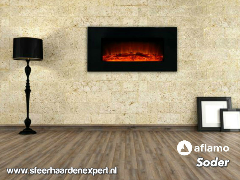 Aflamo Soder - Elektrische LED wandhaard voor aan de muur