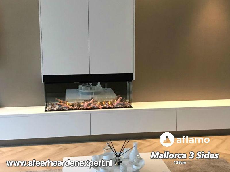 Aflamo Mallorca 3-Sides 125cm - 3 Zijdige elektrische inbouw sfeerhaard