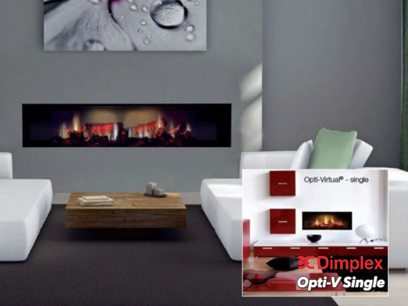 Dimplex Opti-Virtual® Single - 3D inbouw sfeerhaard