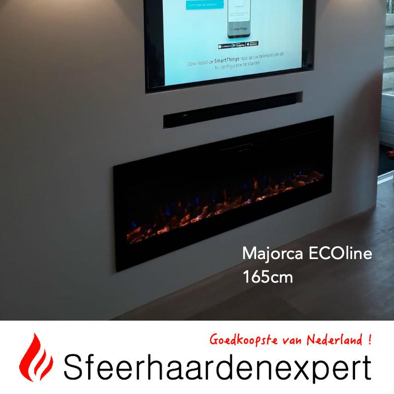 e-Fire Majorca ECOline 165cm - Elektrische sfeerhaard inbouw
