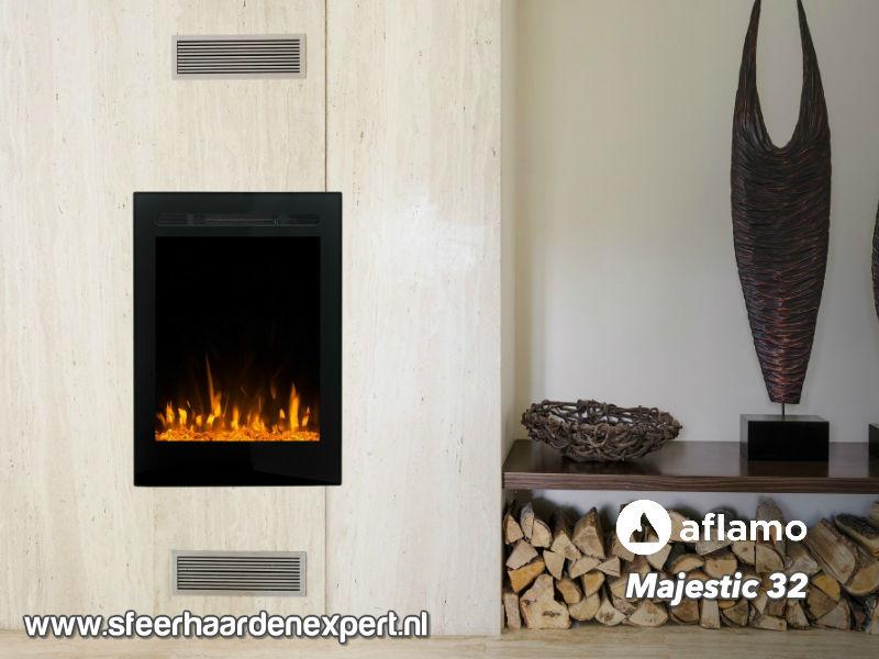 Aflamo Majestic 32 - Elektrische inbouwhaard (47x65)