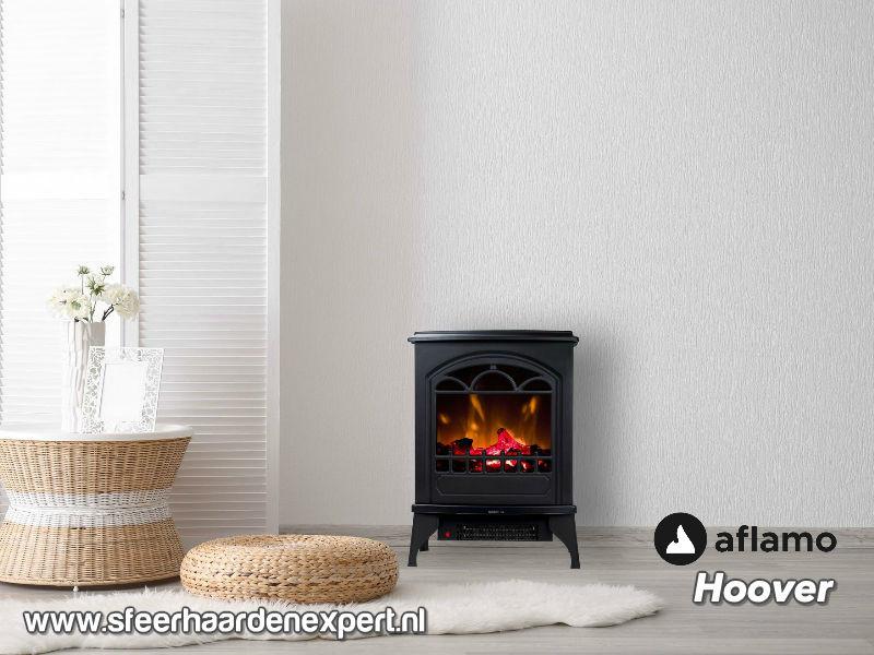 Aflamo Hoover - Vrijstaande elektrische sfeerhaard met verwarming