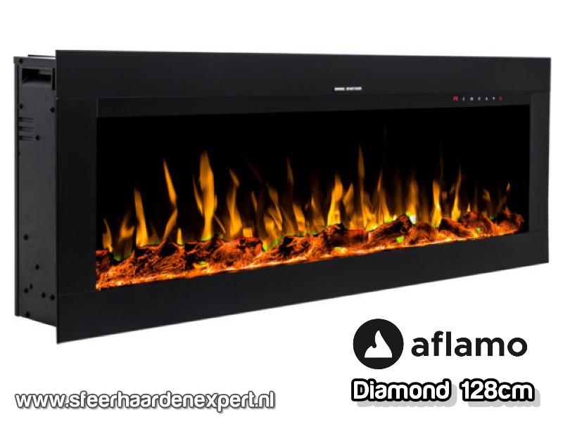 Aflamo Diamond 128cm - Inbouw haard elektrisch