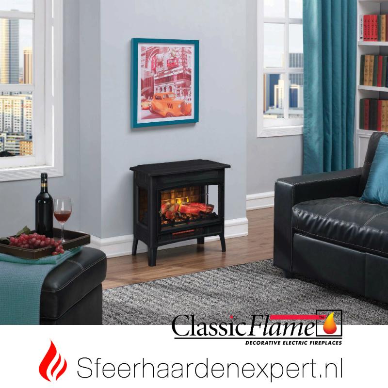 classicflame Relax vrijstaande haard met 3D vlam