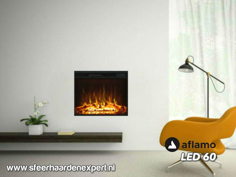 Aflamo LED  60 - Elektrische inbouwhaard 60cm breed