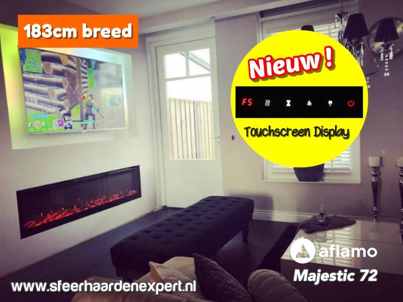 Aflamo Majestic Black Edition - elektrische cinewall haard 182cm