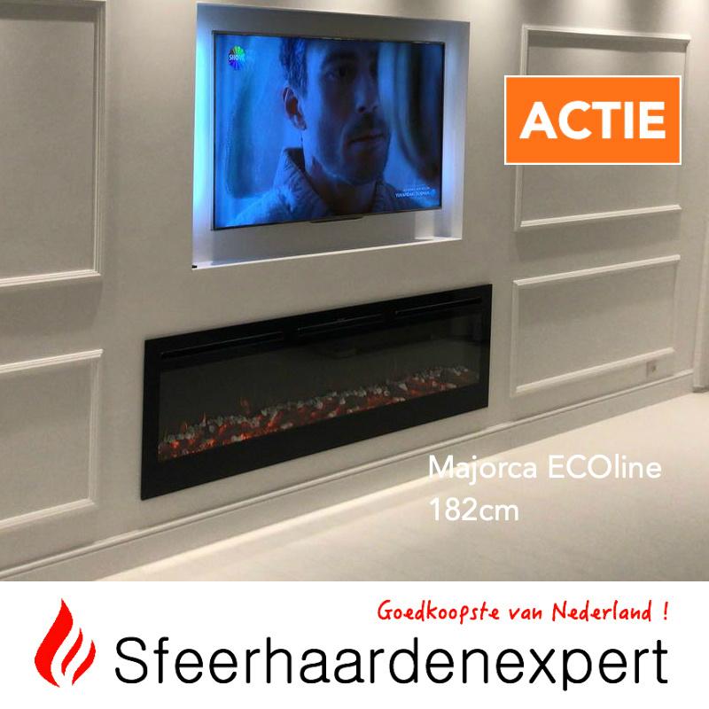 e-Fire Majorca ECOline 182cm - Elektrische sfeerhaard inbouw