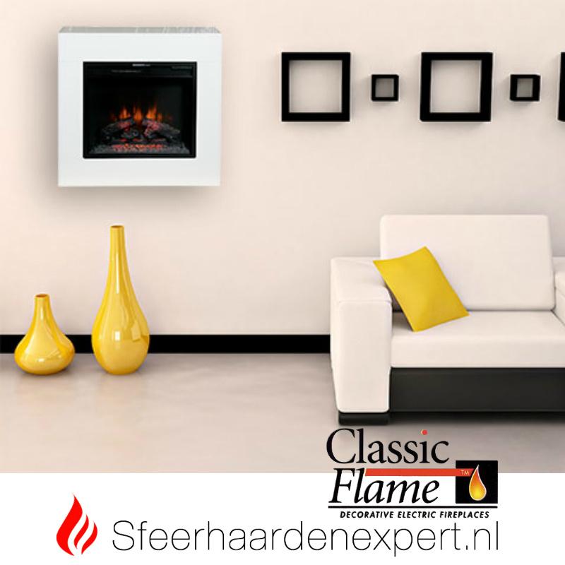 Classicflame- Elektrische wandhaard hanghaard Simo Wit