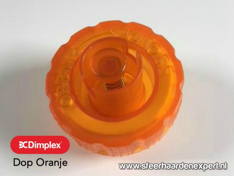 Tankdop oranje voor inbouw waterdamp haarden - Faber Dimplex