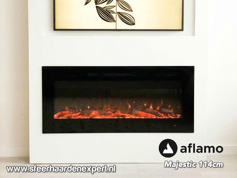 Aflamo Majestic 114cm breed - Elektrische inbouw sfeerhaard