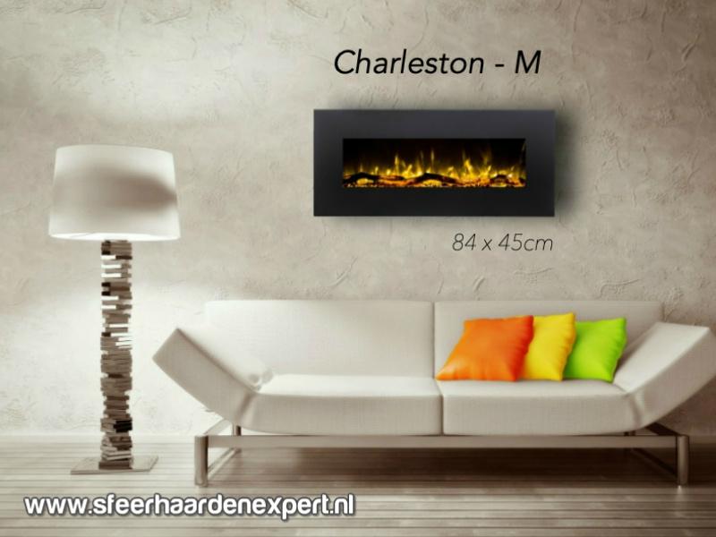 Aflamo Charleston M - De elektrische sfeerhaard 84cm