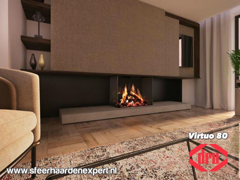 Dru Virtuo 80/3 - Elektrische haard 3-zijdig