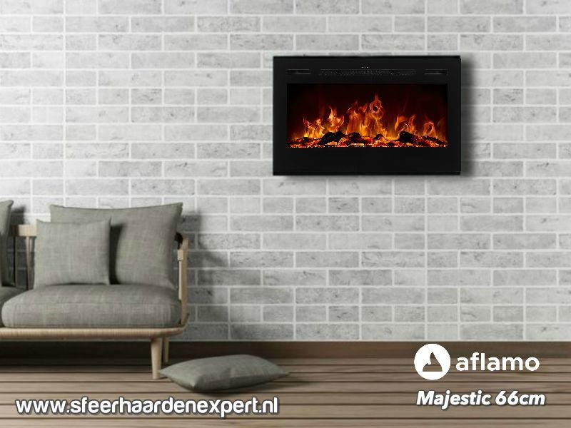 Aflamo Majestic 66 - Wall Fire Elektrisch
