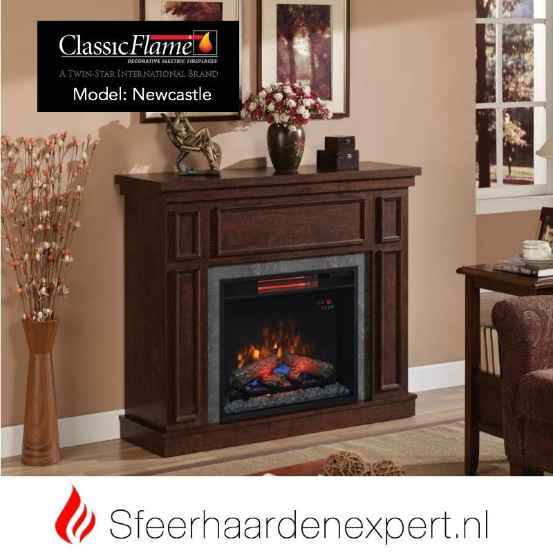 Classic Flame elektrische sfeerhaard met schouw New Castle Kersen